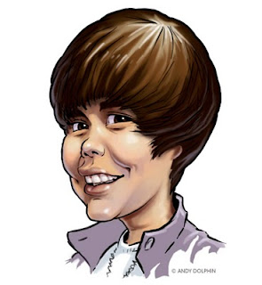 justin bieber digital caricature