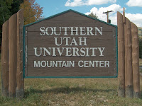 SUU Mountain Center College Cabin Sign