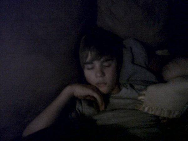 Cute Justin Bieber sleeping