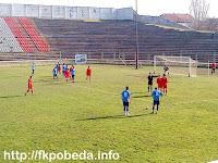 Moment from the match Pobeda-Rabotnicki