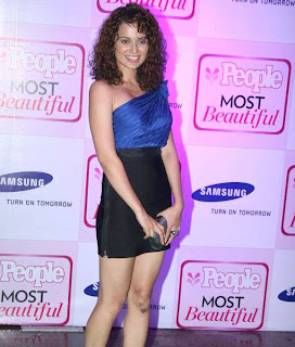 Hot actress Kangana Ranaut blue