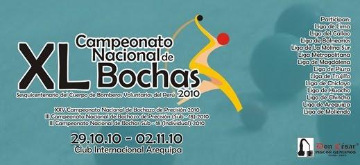CAMPEONATO NACIONAL DE BOCHAS 2010
