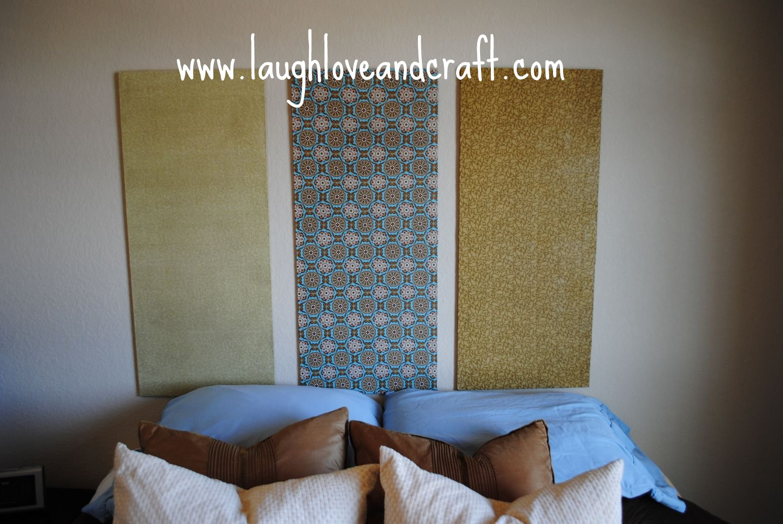 Laugh Love And Craft DIY Backboard For The Guest Bedroom