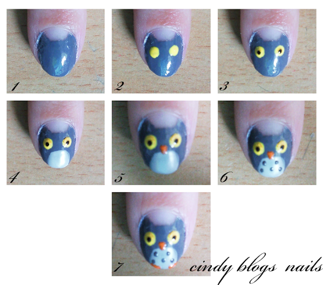 http://cindyblogs-nails.blogspot.co.il/2010/07/nail-art-owl-tutorial.html
