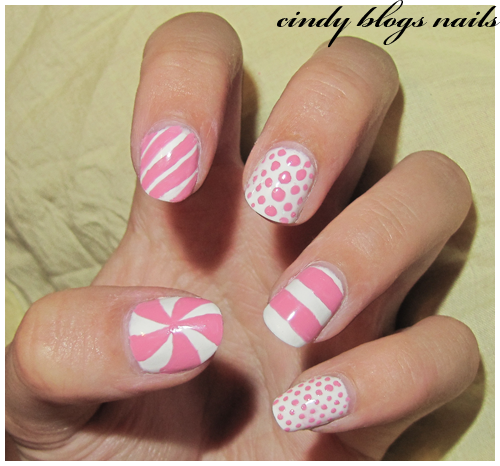 Pink and White Reverse Granulated Nail Art YouTube