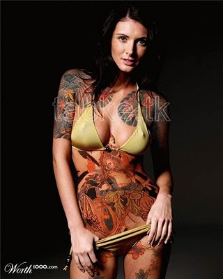 tattoo sexy girl supermodel 2010