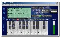Transforme seu computador em um Piano. KBPiano vai transformar seu computador em um Piano: apenas pressione as teclas do teclado e você irá ouvir os sons. Você pode programar para que toque o refrão com apenas um botão. Suporta 15 Canais e mixagem em tempo real. É possível criar MIDIs profissionais em pouco tempo.