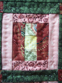 Little Pink Quilt in Log Cabin Pattern