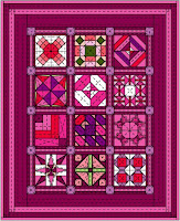 Quilt from Book Ten of The Quilt Ladies Book Collection, At Anytime