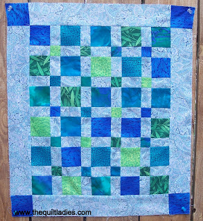 Little Blue Quilt made with Squares