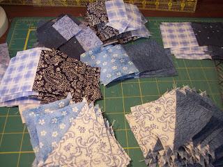 Make a blue baby quilt