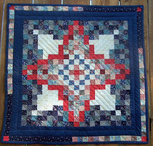 red, white and blue quilt top by The Quilt Ladies