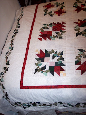 Applique Quilt Pattern book in Red and Green fabric's