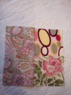 Pink quilt fabric made into pillows