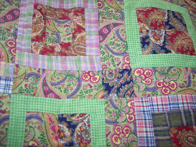 Paisley Quilt using Simple Log Cabin Quilt Pattern