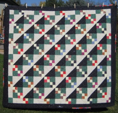 showing a 4 patch quilt