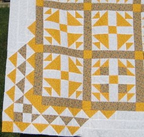 Two Color Quilt - Yellows and White