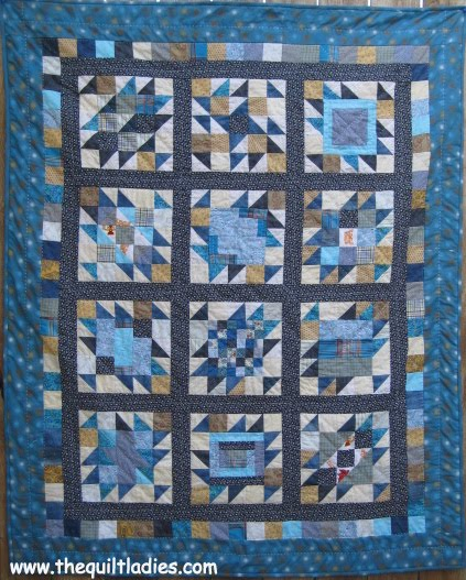 Get to the center quilt, machine pieced and hand quilted.