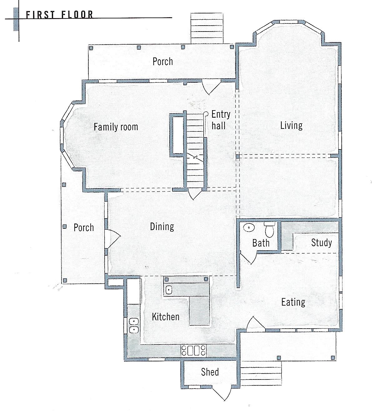 Folk victorian farmhouse floor plans and victorian for Folk victorian house plans