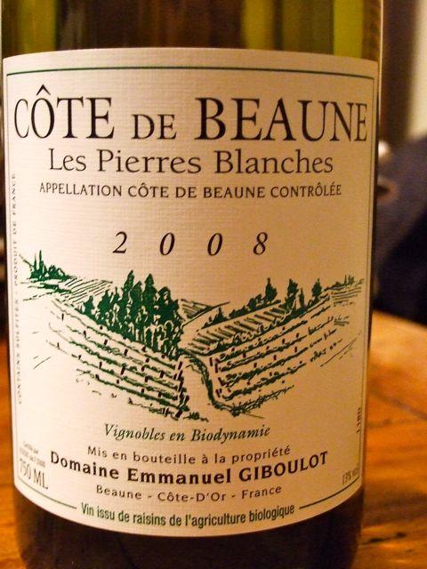 Emmanuel Giboulotu0027s Côte De Beaune Les Pierres Blanches 2008