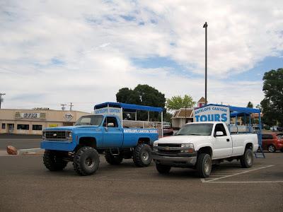 Trucks for tour Antelope Slot Canyon Page Arizona