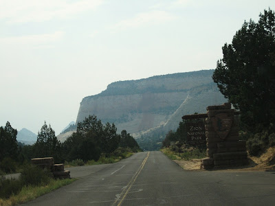 East entrance Zion National Park Utah