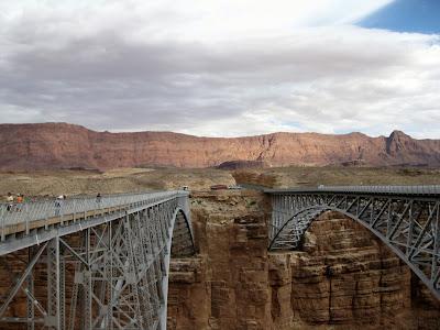 Old and new Navajo Bridges Marble Canyon Arizona
