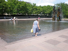 Mom in Princeton Fountain