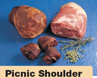... . End shoulder. Cuban-style marinated slow-roasted pork. Under the