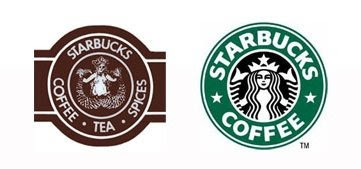 old and new starbucks logo