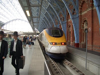 Eurostar train at S:t Pancras