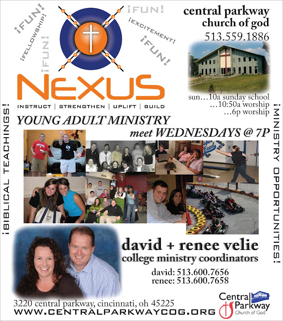 Ad for Nexus College/Young Adult Ministry