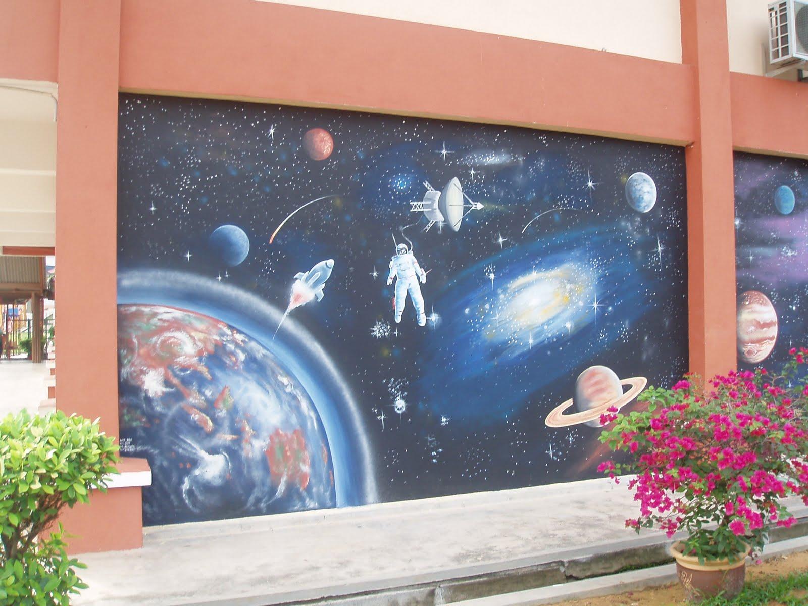 Pelukis mural shah alam space kapal angkasa for Mural kartun