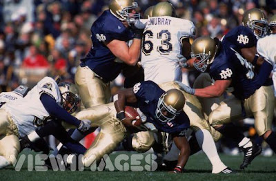 Jones rushed for an ND record 262 yards against Pitt