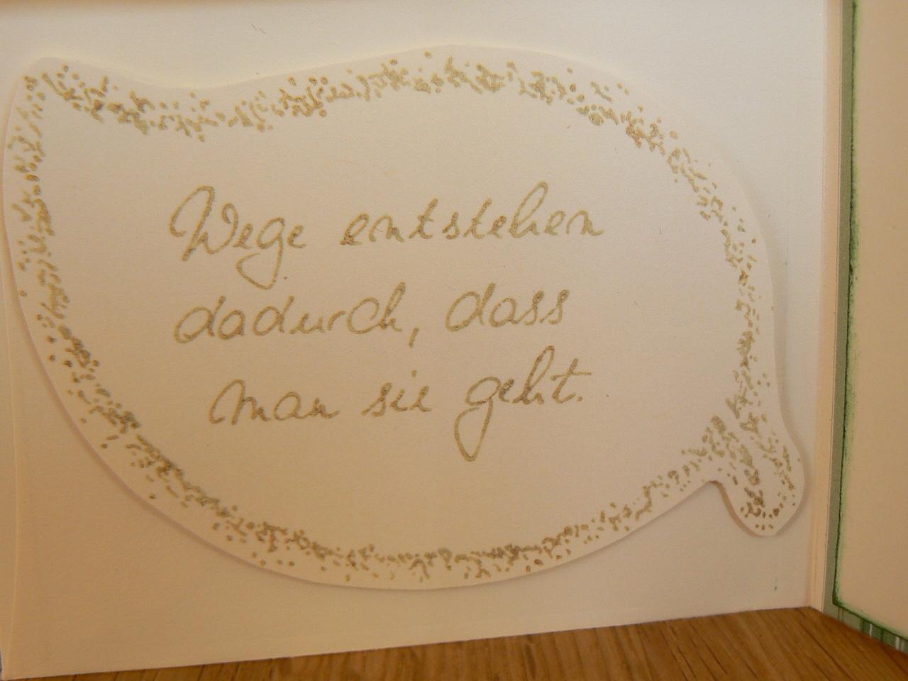 Kreatives aus Papier: Goldene Hochzeit die zweite