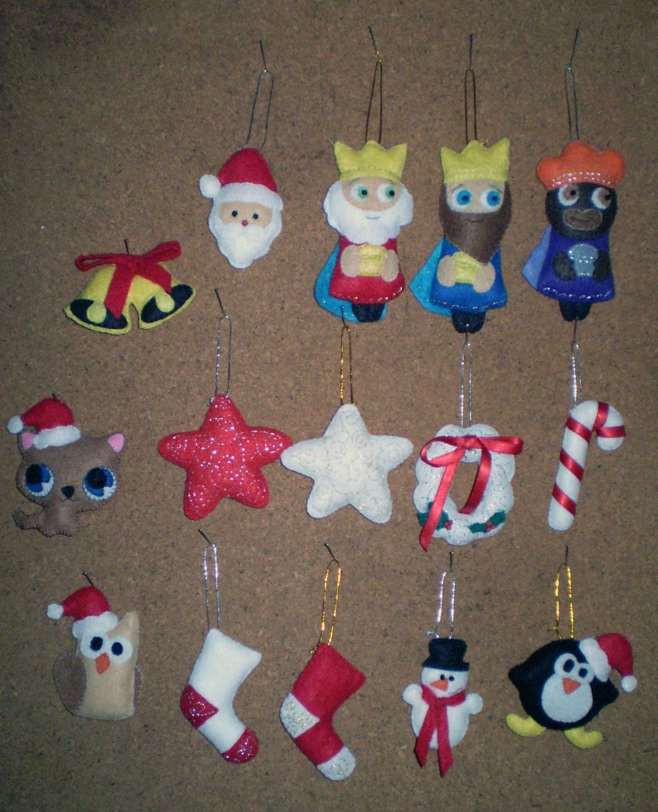 Adornos navideños fieltro - Imagui