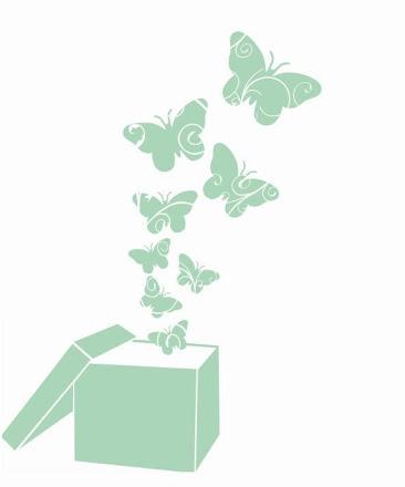 Animales 008 - Caja con mariposas
