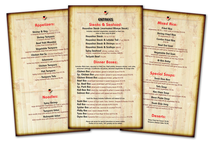 media design a mighty tasty menu design