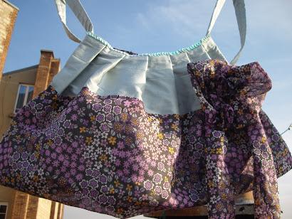 sac fleurs de soie