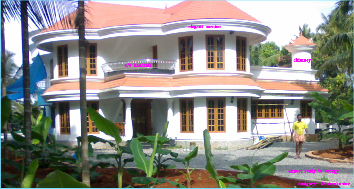 Kerala Villa Plan and elevation