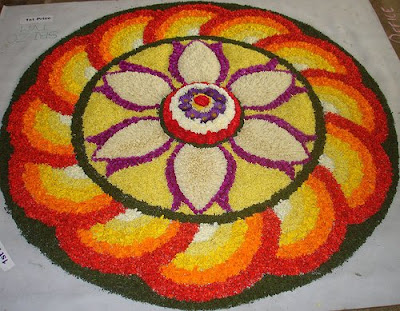 onam pookalam model