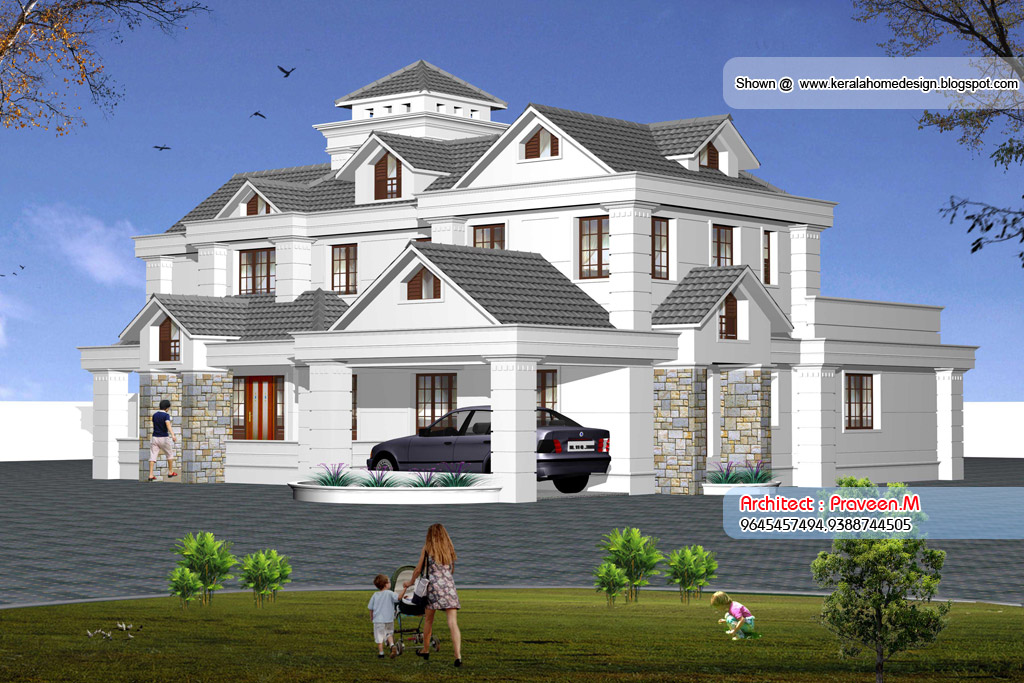 Kerala Style Home Elevation - 3500 Sq.feet