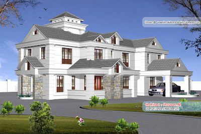 Kerala Style Home Elevation   3500 Sq feet   Kerala home design