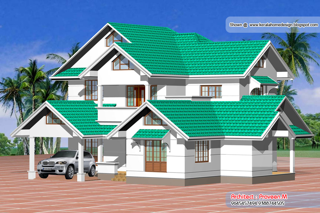 Small House Elevation Kerala Style : Kerala small house plans and elevations houses