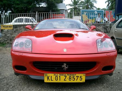 Ferrari car as taxi in kerala