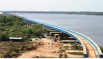 India's longest railway bridge in Kochi (Cochin, Kerala, India)