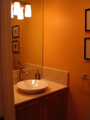 Powder room paint colors home designs for Powder room color ideas