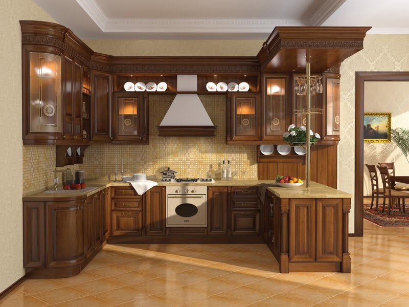 Kitchen cabinet designs 13 photos kerala home design for Kitchen design gallery photos