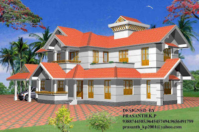 Kerala Style Homes by Architect Praveen.M