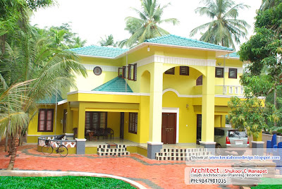 Kerala home plan elevation and floor plan   3236 Sq FT   Kerala